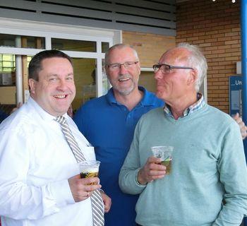 Trotz Landtagswahl besuchten der Landrat Axel Lehmann und der Ortsbürgermeister von Berlebeck, Harald Matz, unser Fest.